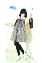 dress - yellowline stockings - boots - shirt