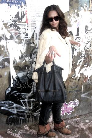 Vintage Brick lane London coat - Foley and Corinna purse - Prada jeans - Soixant