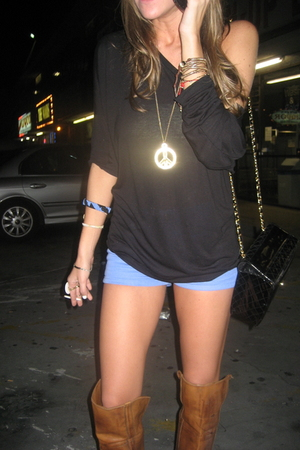 American Apparel shirt - American Apparel shorts - Frye boots - vintage from Was