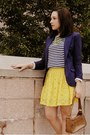 Chartreuse-target-necklace-navy-h-m-blazer-yellow-forever-21-skirt