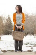 light orange YSL cardigan