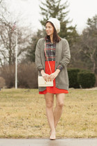 J Crew shirt - Loro Piana scarf - vintage Givenchy purse - J Crew skirt