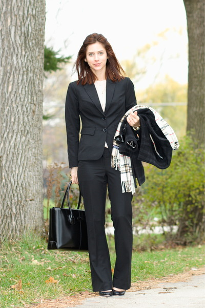 black pants suit