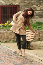 Burberry coat - nicole miller purse - Maggie Ward pants - J Crew pumps
