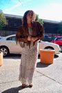 White-gap-dress-brown-unknown-belt-brown-shoes-brown-vintage-jacket