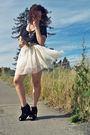 Black-victoria-secret-t-shirt-white-diy-skirt-black-jeffrey-campbell-shoes-
