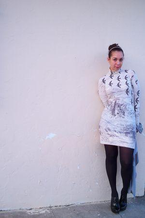 white Forever 21 dress - black Michael Kors shoes