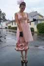 Pink-forever-21-dress-pink-lockheart-purse-black-vintage-gloves