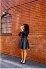 Black-leather-custom-made-dress-black-jewel-collar-forever-21-blouse