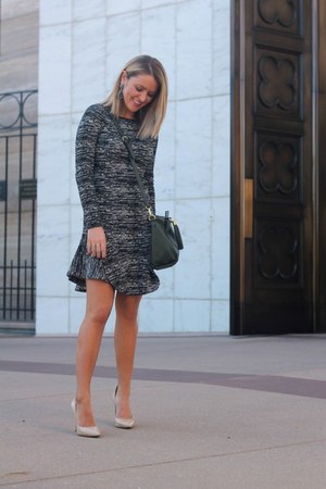 black banana republic dress - olive green Nordstrom bag - tan Nordstrom heels