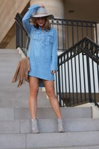 light blue chambray abercrombie and fitch dress