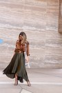 Light-brown-silk-top-shirt-eggshell-faux-leather-francescas-bag
