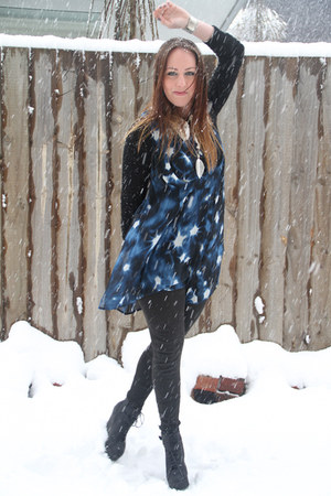 Glassons boots - blue cybele dress