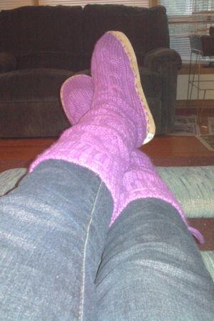 purple Victorias Secret shoes