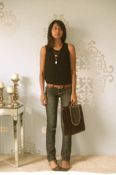 Indonesia top - rock and republic jeans - Steve Madden shoes