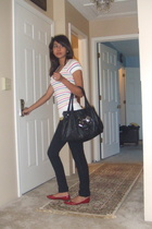 f21 top - bugis market jeans - Far East Plaza shoes - Betsey Johnson purse