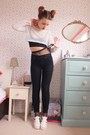 White-chunky-tkmaxx-shoes-black-matalan-jeans-white-mesh-boohoo-top