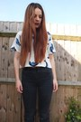 White-dolphin-ark-top-black-ripped-matalan-jeans