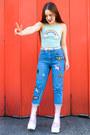 Bubble-gum-platform-dolls-kill-boots-aquamarine-rainbow-festival-fashion-top