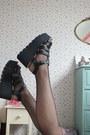 Maroon-skater-primark-dress-black-fishnet-pamela-mann-tights