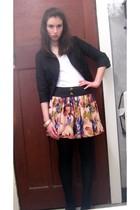 Sunny Girl blazer - Target Australia top - Dotti skirt