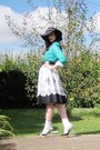 White-nine-west-shoes-white-target-skirt-black-vintage-belt-aquamarine-spo