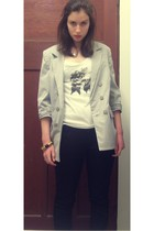 Sportsgirl blazer - Sass and Bide t-shirt - Just jeans jeans - vintage accessori
