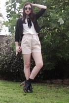 light pink Sportsgirl shorts - white shirt - black Sunny Girl blazer - black Spo