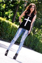 Jeffrey Campbell shoes - Armani Exchange jeans - romwe blouse