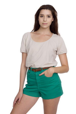 green American Apparel shorts - beige American Apparel top