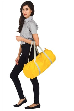 yellow American Apparel bag - silver American Apparel shirt