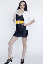 American Apparel jacket - American Apparel dress - American Apparel belt - Ameri
