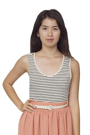 beige American Apparel top - pink American Apparel skirt