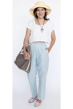American Apparel t-shirt - Califorina Select pants - vintage shoes - vintage hat