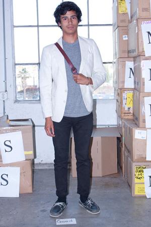 California Select blazer - American Apparel t-shirt - American Apparel jeans - C
