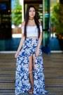 White-american-apparel-top-floral-skirt-fashion-nova-skirt-urbanog-sandals