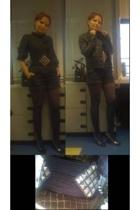 H&M blouse - Topshop shorts - H&M tights - Topshop jacket - Golden Goose shoes -