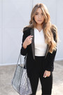 Bcbg-max-azria-blazer-black-and-white-parfois-bag