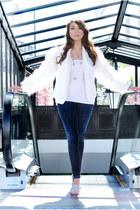 skinny jeans Zara jeans - faux fur Amparo Zepeda jumper