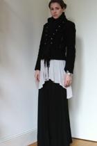 jacket - Zara sweater - Express skirt - scarf