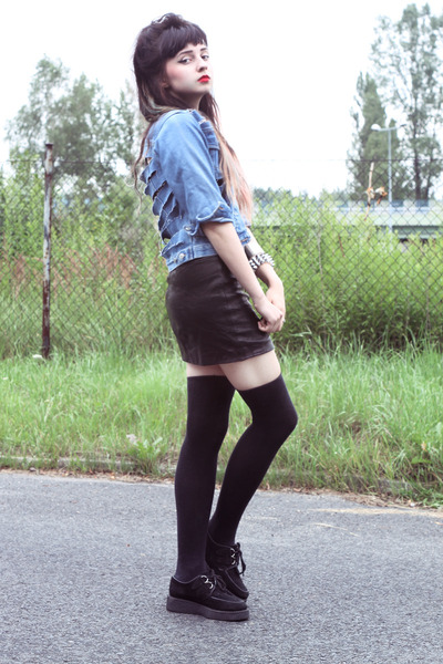 leather club london skirt