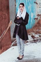 Choies coat - PERSUNMALL heels - bola panties