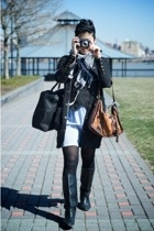 jacket - dress - accessories - boots vintage boots - Urban Outfitters stockings