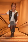 Forever-21-top-h-m-skirt-mudd-vest-maxazria-vest-thrifted-bag-h-m-sock