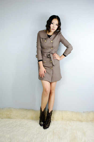 style2bb3 coat - style2bb3 dress - style2bb3 shoes