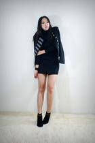 black style2bb3 jacket - black style2bb3 shoes - black style2bb3 dress
