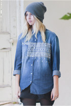 denim River Island shirt