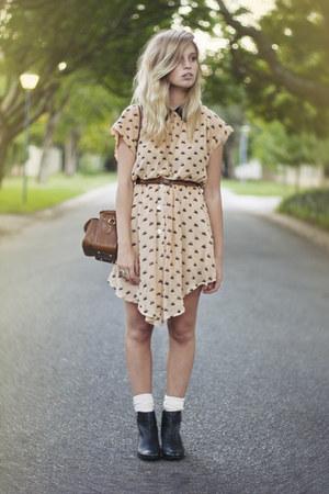 swan print Dahlia dress