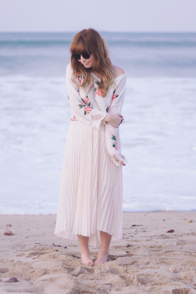 rose print Romwecom sweater - maxi Romwecom skirt