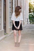 black suede evil twin skirt